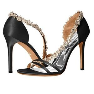Badgley Mischka Voletta Crystal Embellished Sandal